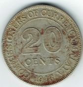 Malaya, George VI, 20 Cents 1948, VF, WB5657